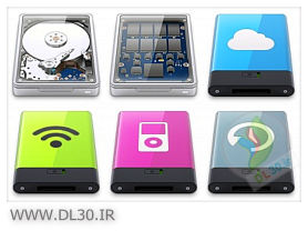 130 Hard Drives Icons